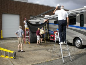 Pit Stop awning replacement 011
